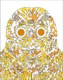 Abstrakcjonistyczna sowy ilustracja Zdjęcia Royalty Free