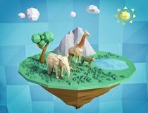 Abstrakcjonistyczna spławowa wyspa Zdjęcia Stock