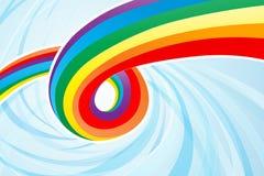 abstrakcjonistyczna spływowa tęcza Zdjęcia Stock
