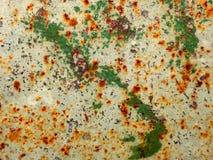 Abstrakcjonistyczna stara czerwieni rdzy metalu tekstury tła tapeta Zdjęcie Stock