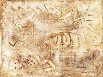 Abstrakcjonistyczna stara zewnętrzna ściana Obrazy Stock