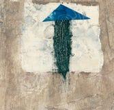 abstrakcjonistyczna strzała Obraz Royalty Free