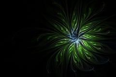 Abstrakcjonistyczna stubarwna ilustracja na ciemnym tle Zdjęcie Royalty Free