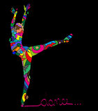 Abstrakcjonistyczna sylwetka tancerz Obrazy Stock