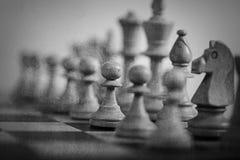 abstrakcjonistyczna szachowa gra Fotografia Royalty Free