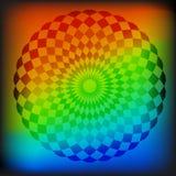 Abstrakcjonistyczna mozaiki sfera Zdjęcia Royalty Free