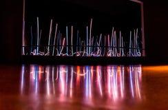 Abstrakcjonistyczna szklana figurka od Chihuly szkła i ogródu zdjęcia royalty free