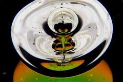 Abstrakcjonistyczna szklana rzeźba zdjęcia royalty free