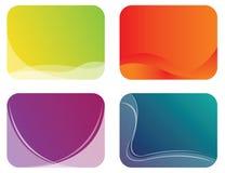abstrakcjonistyczna sztandaru koloru ilustracja Obraz Stock