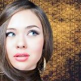 abstrakcjonistyczna sztandaru mody fryzury ilustracja pięknego włosy długa prosta kobieta obraz royalty free