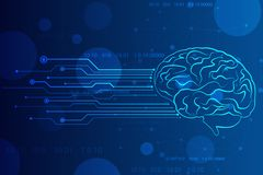 Abstrakcjonistyczna sztuczna inteligencja Technologii sieci t?o, Kreatywnie m ilustracja wektor