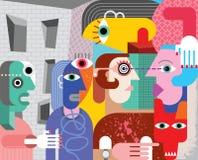 Abstrakcjonistyczna sztuka ilustracja wektor
