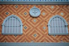 Abstrakcjonistyczna sztuka balkony które dekorowali w okręgu kształcie above Fotografia Royalty Free
