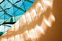 Abstrakcjonistyczna sztuka w architekturze Obraz Royalty Free