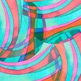 Abstrakcjonistyczna tęcza akrylowa i akwarela okrąg malowaliśmy backgroun Zdjęcie Stock