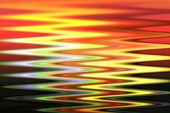 Abstrakcjonistyczna tęcza koloru plama jasnożółta, czerwony, zielony, czerni, różowi, biel i purpury royalty ilustracja