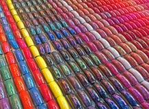Abstrakcjonistyczna tęczy gwoździa różnorodność, moda szczegóły, Obraz Stock