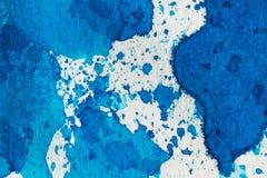 abstrakcjonistyczna tła błękit akwarela Zdjęcie Stock
