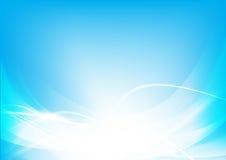 Abstrakcjonistyczna tła błękita fala krzywa i oświetleniowy elementu wektor ilustracja wektor