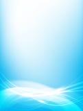 Abstrakcjonistyczna tła błękita fala krzywa i oświetleniowy elementu wektor royalty ilustracja