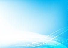 Abstrakcjonistyczna tła błękita fala krzywa i oświetleniowy elementu wektor ilustracji