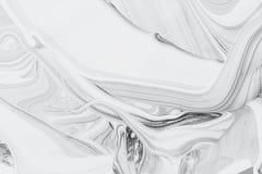 Abstrakcjonistyczna tła, białej i czarnej kopalna nafciana farba na wodzie, Zdjęcie Stock