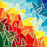 abstrakcjonistyczna tła bożych narodzeń mozaika Fotografia Royalty Free
