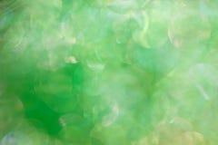 abstrakcjonistyczna tła bokeh skutka zieleń Obraz Royalty Free
