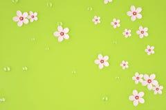 abstrakcjonistyczna tła bokeh wiśnia kwitnie wiosna świadczenia 3 d Zdjęcie Royalty Free
