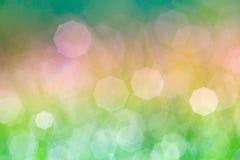 abstrakcjonistyczna tła bokeh zieleń Zdjęcie Royalty Free