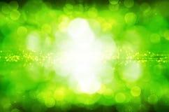abstrakcjonistyczna tła bokeh zieleń Fotografia Royalty Free