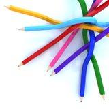 abstrakcjonistyczna tła colour linia ołówek ilustracja wektor