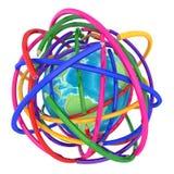 abstrakcjonistyczna tła colour linia ołówek royalty ilustracja