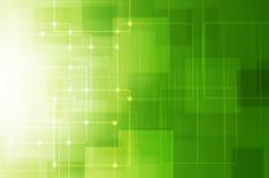 abstrakcjonistyczna tła kopii zieleni technologii kosmicznej tapeta ilustracja wektor