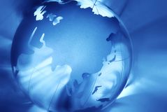 abstrakcjonistyczna tła kryształu kula ziemska Fotografia Royalty Free
