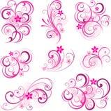 abstrakcjonistyczna tła kwiatów menchii ślimacznica ilustracji