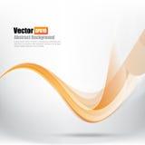 Abstrakcjonistyczna tła Ligth pomarańcze krzywa i fala elementu wektor ja ilustracja wektor