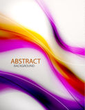 abstrakcjonistyczna tła purpur fala Obraz Stock
