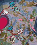 abstrakcjonistyczna tła serca akwarela royalty ilustracja