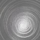 Abstrakcjonistyczna tła A trąba powietrzna kręcony ślimakowaty metal linii spirali konturu bełkowiska skręt na szarym tło abstrak royalty ilustracja