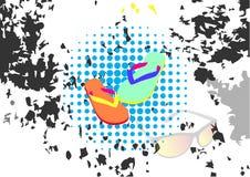 Abstrakcjonistyczna tła trzepnięcia klapa w grunge stylu wektoru ilustracjach ilustracji