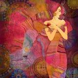 Abstrakcjonistyczna tło kobieta Zdjęcie Royalty Free