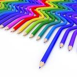 Abstrakcjonistyczna tło linia colour ołówek ilustracja wektor