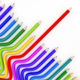 Abstrakcjonistyczna tło linia colour ołówek royalty ilustracja