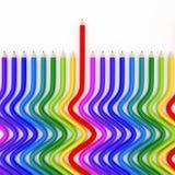 Abstrakcjonistyczna tło linia colour ołówek ilustracji