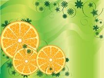 abstrakcjonistyczna tło owoc pomarańcze Obraz Royalty Free