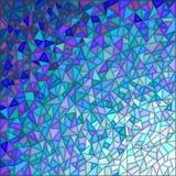 Abstrakcjonistyczna tło symulacja pękać szkło, błękitna gamma Obraz Stock