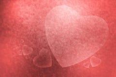 Abstrakcjonistyczna tło tekstura dużego i małego serce dla valen Obrazy Stock
