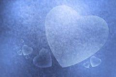 Abstrakcjonistyczna tło tekstura dużego i małego serce dla valen Zdjęcia Stock