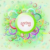Abstrakcjonistyczna tło wiosna z kolorów okręgami Obraz Stock